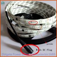 Wholesale holiday auto resale online - DHL fedex M Waterproof IP65 WS2811 RGB Dream Color Auto changing COLOR LED M DC12V flexible Strip White PCB