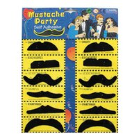 Wholesale Mustache Toys - Halloween Self Adhesive Fake Mustache 12pcs Set Novelty Mustaches Party Favor Mustache Black Mustaches for Masquerade Party & Perform OTH584