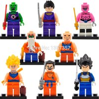 Wholesale Master Roshi Models - Dragon Ball Z Minifigures Son Goku Vegeta Master Roshi Krillin 8pcs lot Building Blocks Set Models Mini Figures Toys