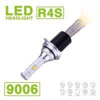 Wholesale Halogen H4 Kit - 1 Set 9006 HB4 R4S 90W 10400LM LED Headlight Super Slim Conversion Kit Single Beam Driving Fog Lamp Bulb 45W 5200LM Replace HID Xeno Halogen