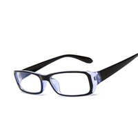 Wholesale Tv Mirror Glasses - Wholesale-Computer TV Glasses Radiation Resistant Transparent lens Read Glasses Men Women Plain Mirror 4 Colors Frame F15004 Oculos