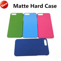 Wholesale Hard Grind - New Luxury Ultra Thin Matte Case For iphone 7 Plastic PC Frosted Hard Back Skin Cover Colorful Grind arenaceous shell For iphone 6s 7 plus