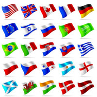 Zwei Side Printed The World Country Flags 38x25 Zoll / 96 X 64cm Polyester-Staatsflagge 100PCS Freies Verschiffen
