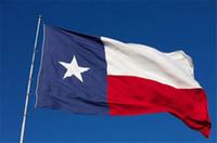 estrellas de fibra al por mayor-Texas Flag 90 * 150cm 3 * 5ft Texans Banner Azul Blanco Rojo Tres colores TX Oriflammes Estrellas Banderas del estado Fibra de poliéster G129