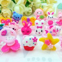 Wholesale Anniversary Animation - Children Kids Girls Cartoon Hello Kitty Ring lovely animation cartoon child Resin ring jewelry jewellery