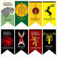 Wholesale Cm Fire - Game Of Thrones Flags A Song of Ice and Fire Stark Targaryen Flags Bolton Baratheon Greyjoy Lannister Martell Targaryen Tyrell Banners