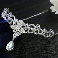 Wholesale butterfly hair comb wedding for sale - Romantic Crystal Butterfly Headband Shinny Fairy Rhinestone Floral Wedding Prom Evening Party Headpieces Jewelry Accessories