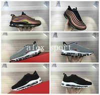 Wholesale Green Crystal Shoes - New Air 97 Skepta Sk Air London Bronze Running Shoes Top Quality 97 Mens Vivid Sulfur-Black LX Crystal Outdoor Sports Shoes Eur 36-46