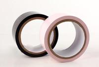 ruban adhésif achat en gros de-Erotic Wrap Bondage Tape pour la liaison du sein, bâillonnement, attachant - 65 FT Long Style Latex noir ou rose pour adulte fétiche jeu