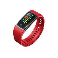 el saati bluetooth toptan satış-Smartband S9A tam renkli ekran kalp hızı smartwatch bilek İzle el yüzük ile mobil bluetooth bilezik