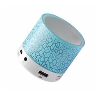 Wholesale LED Mini Bluetooth Speaker A9 TF USB FM Portable Musical Subwoofer Loudspeakers For phone PC with Colors