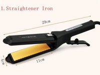 Wholesale Titanium China Hair Straightener - New Splint Hair Straightening Curling Tongs Ceramic Corn Straightener Irons Nano Titanium Flat Iron Chapinha Professional Hair Crimper