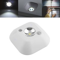 Wholesale Wholesale Porch Lights - Popular New Mini Wireless Infrared Motion Sensor Ceiling Night Light Battery Powered Porch Lamp Cabinet light