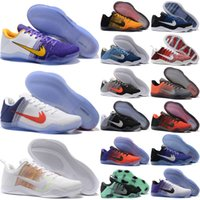 Wholesale Bruce High Quality - 2017 High Quality Kobe 11 Elite Men Basketball Shoes White Multicolor Red Horse USA Bruce Lee Eulogy KB 11 Trainer Sneakers eur 41-46