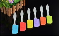 Wholesale Small Scrapers - Small size 19cm translucent butter scraper Food grade silicone cream cake jam spatula Multi-purpose baking tools