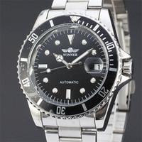 relógios de luxo suíço exército venda por atacado-Famosa Marca Vencedor Esqueleto Relógios Relógios Militares À Prova D 'Água Do Exército Suíço Top Quality de Luxo Relógios Automáticos para Homens Frete Grátis