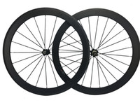 Wholesale Carbon Fiber Bike Wheelset - 60mm Carbon Road Bicycles Wheelset 25mm Width Carbon Fiber Bike Wheel Wholesale front and rear cycling wheel Set T700 Carbon