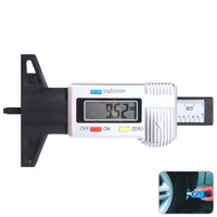 Wholesale Tyre Measure Tools - Wholesale-Digital LCD Car Auto Motorcycle Tyre Tire Tread Depth Gauge Meter 0-25.4mm Measuring Range Necessary Tester Driving Safety Tool
