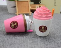 Wholesale Sippy Cup Strap - Squishy Ice Cream Cup Sippy cups Cartoon ice cream sushi Soft Squeeze Cute Cell Phone Strap gift Stress for children