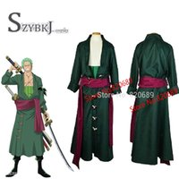 Wholesale One Piece Cosplay Costumes - Wholesale-Free shipping One Piece Roronoa Zoro Cosplay Costume Two years later all size