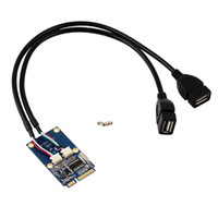 Wholesale Pci Expansion Adapter - MINI PCI-E Switch to Dual Port USB 2.0 Expansion Card Adapter Card Wholesale