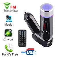 Wholesale Led Display Controller Card - FM28B Bluetooth Car FM Transmitter Modulator MP3 Music Player Handsfree With USB SD Card Reader MMC Slot Remote Controller LED Display