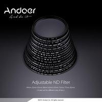Wholesale Nd 67 - Andoer 49 52 55 58 62 67 72 77 82mm ND Fader Neutral Density Adjustable ND2 to ND400 Variable Filter for Canon Nikon DSLR Camera