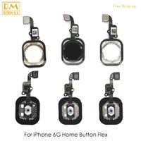 Original 5pcs / lot per iphone 6G Home Fingerprint tasto chiave Flex Cable Return Menu Keypad Touch Flex nero oro bianco ricambio parte del telefono