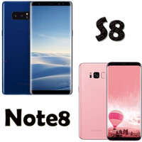 Wholesale Tri Sim Cards - 6.2Inch S8 S8+smartphone MTK6580 Quad Core Cellphone 1GBRAM 16GBROM 3D Coverglass 8 Cambered Surfice Dual Camera 8.0 Back Camera Vs Note8