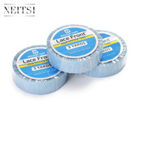 Wholesale Hair Glue Adhesive - Neitsi 1pc 1.27cm Blue# Lace Front Support Tape Glue Super Glue Tape For Hair Extensions Double Sided 3 Yards Wig's Tape Touppe's Adhesive