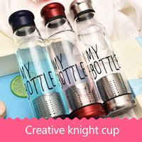 Wholesale Tea Cup Portable - creative knight cup my bottle portable silicate glass tea cup 420ml