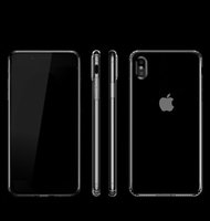Wholesale Crystal Fashion Phone Case - For iPhone X Crystal Case Clear Cell Phone Cases Ultra Transparent Soft TPU Silicone Fashion Cover Four angle protective airbag