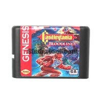 DC / MD / SS / SEGA Memery Carte Castlevania Bloodlines 16 bit NTSC-USA MD Card Game per Genesis chip della cartuccia