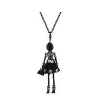 Hot Sale France Crystal Doll Necklace Pendants New Fashion Lovely Kids Doll Pingente KeyChains Encantos Acessórios para Mulheres Presentes de Natal