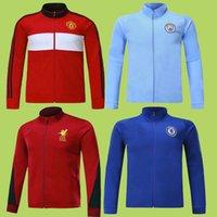 Wholesale Short Coat Outwear - 17 18 MAN UTD Soccer Jacket Tracksuit Tops Football Coat Sportwear Outwear MAN CITY 2017 Soccer Chelsea Hoodie Premier Jogging Traing Suit