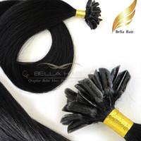 Wholesale human hair weave bonding for sale - Brazilian Human Hair Pre bonded Hair Extensions U Tip Hair quot Straight Weave Bellahair g strand g set DHL
