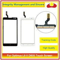"Wholesale Lg P768 - High Quality 4.7"" For LG Optimus L9 P760 P765 P768 P769 L9 II 2 D605 B0567 Touch Screen Digitizer Outer Glass Lens Panel"