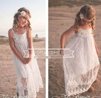 Discount large tutus - Summer New Large Girl Beach Dress White Lace Bohemia Slip Dress Fashion Sundress Children Clothing 8-14T GF014