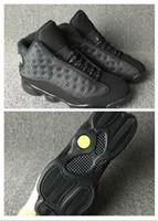 ingrosso addestramento di gatto nero-Nike Air Jordan Retro Shoes 2018 CALDO arrivo nuovo 13 OG scarpe da basket gatto nero per gli uomini scarpe da ginnastica allenamento sportivo con alta qualità Blackcat