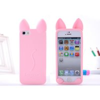 Wholesale Cat Ears Iphone Cases - Explosion Models For Apple Cartoon Cat Ears All-inclusive Soft Shell Silicone Case Phone Shell