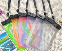 Wholesale Dirt Proof Iphone Case - For iphone 6 s7 Universal Clear Waterproof Pouch Case Water Proof Bag Underwater Cover For iPhone6 plus 5 Samsung Galaxy S6 Note 7