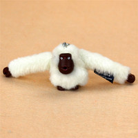 Wholesale Toys For Lovers - Fashion 3D Plush Doll Monkey Pendant Keychain For Handbag Messenger Bag Purse Orangutan Plush Toy Animal Keyring Accessory