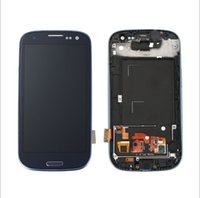 Wholesale S3 Screens - Hot!For Samsung Galaxy S3 III i9300 LCD with Touhch screen Digitizer Frame White Free Shipping