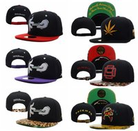 Wholesale D9 Reserved Rolling Hand - D9 Reserve Hats Packman Rolling Hand Leopard Caps Popular Street Panel Hip Hop Ball Sport Snapback Casquette Baseball Gorras Summer Letter