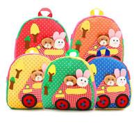 Wholesale Backpack For Preschool - Cute baby plush handmade backpack for kids boy girl kindergarten toys preschool bag zoo backpack Free Fedex DHL