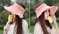 Visor Casual Woman Fashion Lady Beach Sun Visor Foldable Roll up Breathable Wide Brim Linen Hat Cap