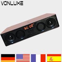 Wholesale usb speaker dock - Wholesale- 10w Portable Wireless Bluetooth Speaker USB Music Center Car Vibration Speakers For Mobile Phone PC Portail Wireless Altavoz