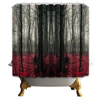 Wholesale bathroom cheap - 69 X 70 Inch High Quality Forest Shower Curtain Home Decoration Bathroom Mildew Resistant Waterproof Polyester Fabric Hanging Curtains Cheap