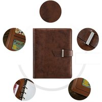 Wholesale A5 Journal - Wholesale- Genuine Leather Notebook Vintage Diary Book Gift Travel Journal Notebook A5 A6 B5