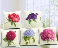 Wholesale Vintage Flower Throw - Euro Style Home Decor Cushion Cover Throw Pillows Sofa Char Seat Vintage Flowers Cushion Cover for Sofa Decorative Pillow Cover